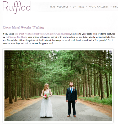 Our wedding on Ruffled!